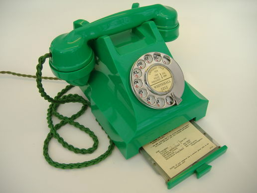 Very Rare 1950's Green Bakelite Telephone