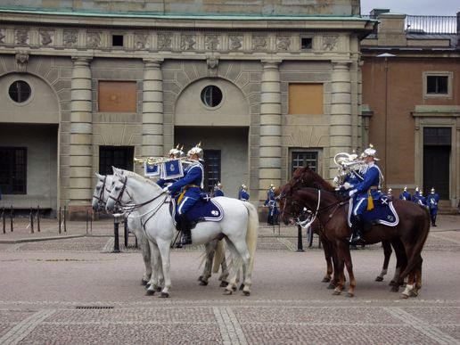 Changing the guard, Stockholm