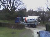 Next door getting some concrete