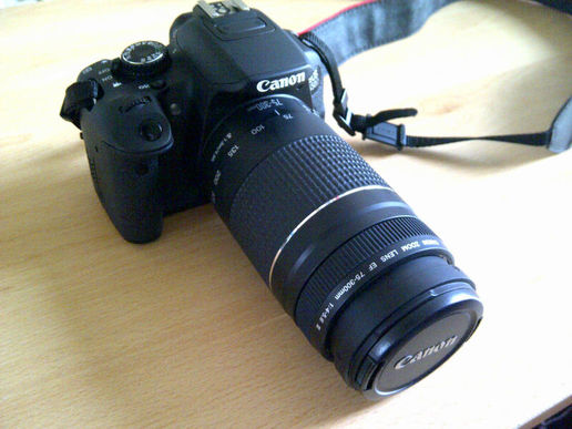 Trialling a 75-300mm lens off a work colleague