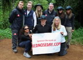 Photos of the BT Red Nose Climb of Kilimanjaro.