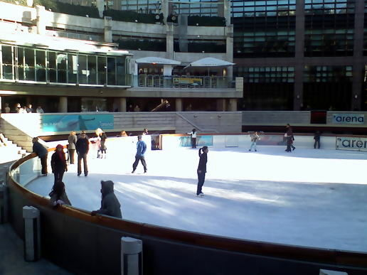 Ice Skating @ Liverpool Street