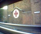 Red Cross building seen from the top deck of the No 38 Bus