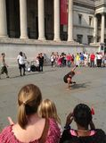 Break dancing Trafalgar square