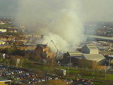 Fire near Millenium Point, Birmingham