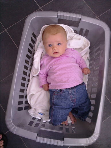 even the laundry basket wasn't big enough!