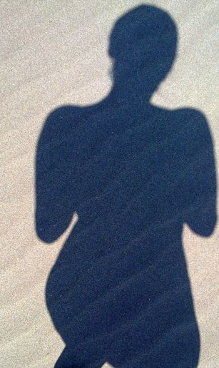 SELF PORTRAIT ON THE BEACH