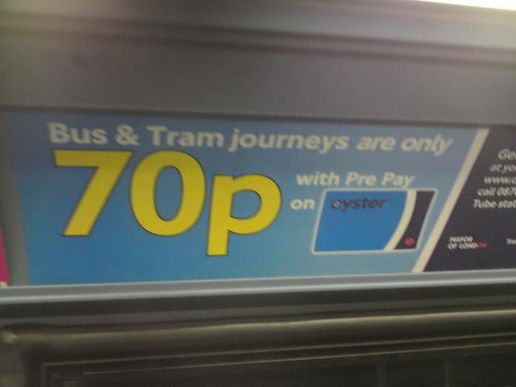 Misleading bus ad