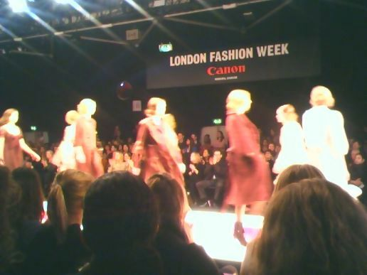 At london fashion week