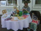 Teaching crochet in crystal palace!