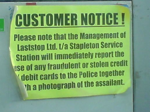 CUSTOMER NOTICE!