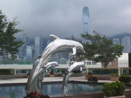 BBG/HK: Dolphins, outside Royal Pacific Hotel