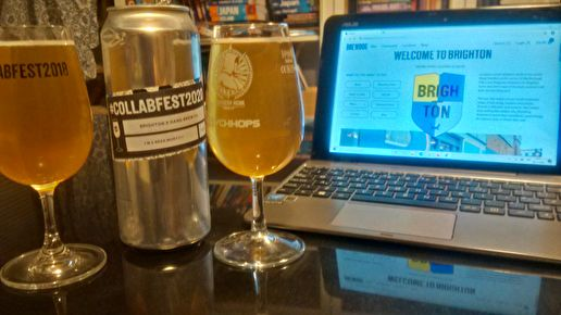 "#Collabfest2020 beer 1: ""I'm A Beer Morty!"" (Brighton x Hand Brew Co, witbier, 4.20%)"