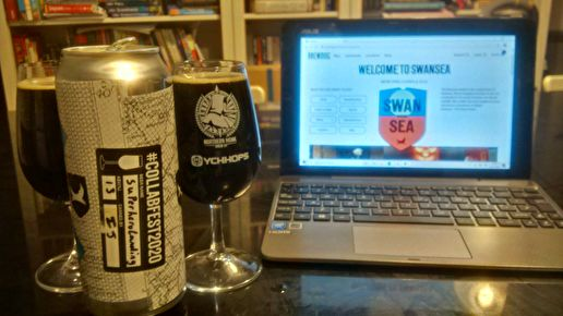 #Collabfest2020 beer 20: Super Hero Landing (Swansea x Tiny Rebel, Imperial stout, 13.00%)