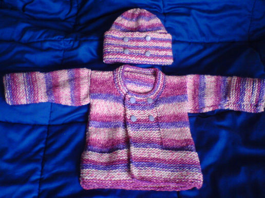 Latest niece knitting project