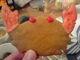 Nothing says Christmas quite like a sparkly gingerbread crab