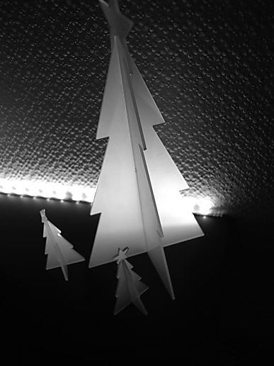 a black and white christmas from Sprocket Towers