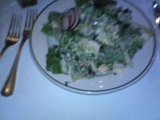 Just for you  honey: I ate a salad at Smith & Wollensky!