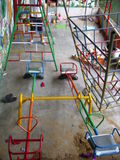 Painting the playground equipment - Wellawatta
