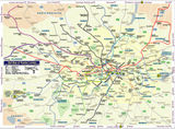 Geographically accurate Tube map