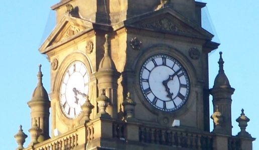 Stopped clock: Morley Town Hall