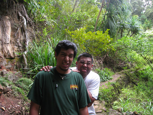 heres me (in front) and my bro in hawaii