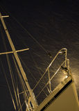 sailing in the snow