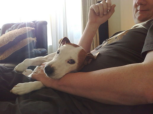 snuggles with dad