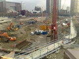 CONTRUCTION SITE IN WESTEFERRY CIRCUS