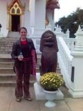 Me outside the Thai Temple