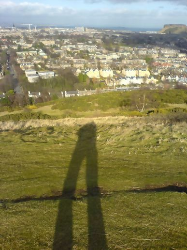 I am very tall in Edinburgh
