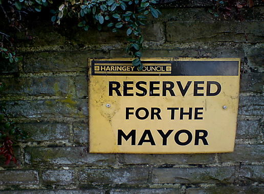 Reserved for the Mayor