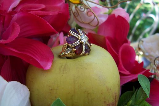 Birthstone rings, The Earth Mother, by The Paris House Designs
