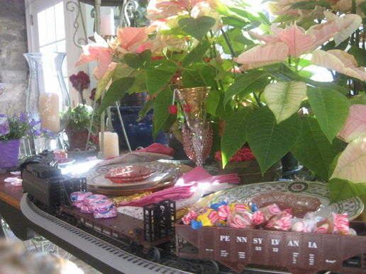 candy garden train party at Champagne and Cupcakes a lifestyle