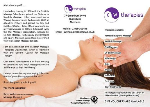 KW Therapies - Aberdeen - Business Cards & Flyers