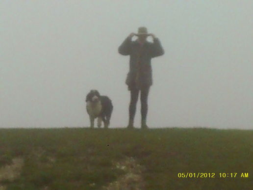 Cley Hill summit in the fog