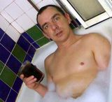 Phil in the bath