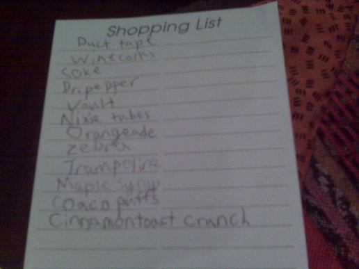 Shopping checklist for girls - SheKnows