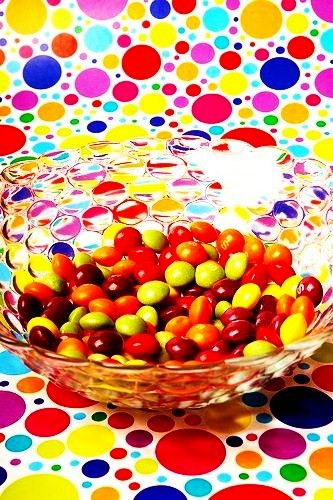 beads, dots, candy - everything round