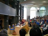His Holiness the 14th Dalai Lama give a public talk at the University of Warsaw on