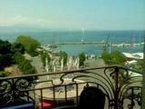 Lake Geneva from our hotel balcony