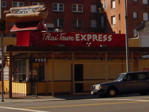 When you want a chili dog, think Thai Town Express... I guess