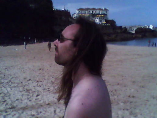 *Huge hippy snorts hapless holiday maker in seaside shocker!*