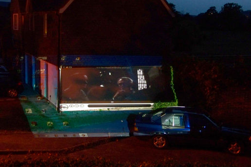 Star Wars on the side of the house!