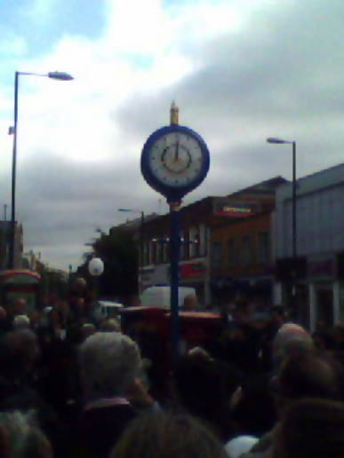 Unveiling the new clock