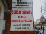 given the name of the vicar, i thought the choice of welcome was somewhat inappropriate.