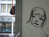 Scribble on the side of a portaloo, Talstrasse