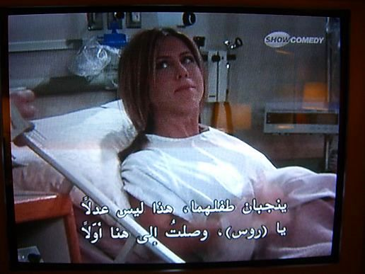 Friends with Arabic subtitle, at Life with The Woodys