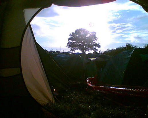 Glasto from the tent