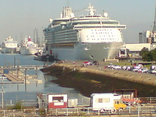 Massive cruise ship at Southampton